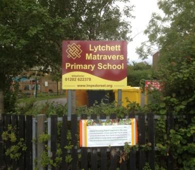 School Signage Lychett Matravers