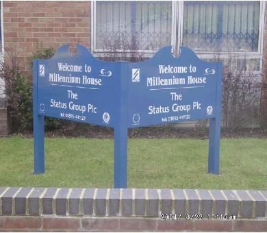 Status Group Metal Signage