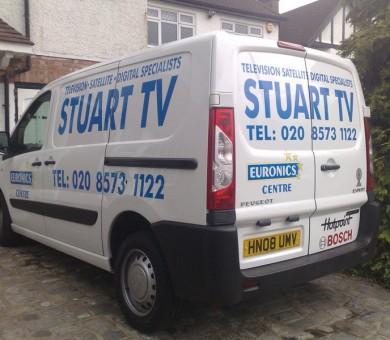 Stuart TV Van Livery